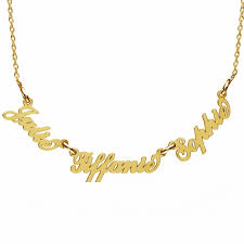carrie name necklace mix small carrie style name necklace silver 925 rhodium or 24k