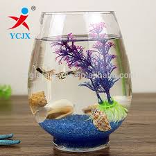 Goldfish Bowl Vase Home Decoration Clear Round Glass Fish Tank Fish Bowl Wholesale