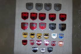 custom dodge ram badges srt 10 flat emblems jmb performance and powdercoat llc