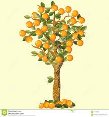 orange tree stock vector image of design wood citric 17129230