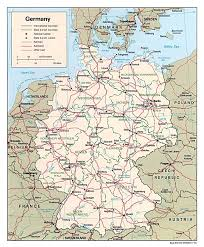 map of countries surrounding germany maps of germany detailed map of germany in tourist map