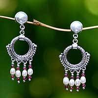 and pearl chandelier pearl chandelier earrings pearl earrings at novica