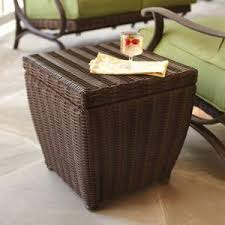 outdoor coffee table with storage luzon rezolith brown outdoor side table with storage 237038 the