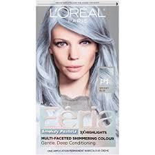 silver blonde haircolor buy l oreal paris hair color feria pastels dye smokey blue p1