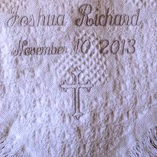 baptism blanket personalized personalized christening cotton carriage throw blanket