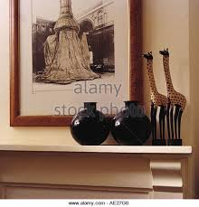 up ornaments on mantelpiece stock photos up