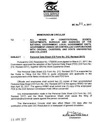 revised personal data sheet cs form 212 rev 2017 u2013 guro ako