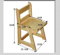 wood modern adjustable height children desk and chair view