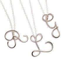 initials necklace silver best 25 sterling silver initial necklace ideas on