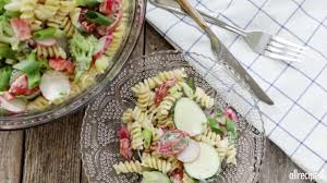 easy cold pasta salad video allrecipes com