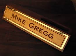Personalized Desk Name Plates Name Plates For Desk With Business Card Holder Best Home