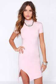 light pink bodycon dress chic light pink dress bodycon dress midi dress 48 00