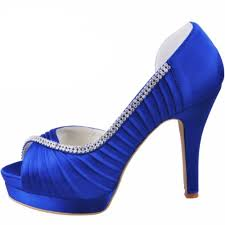 wedding shoes navy blue elegantpark ep11064 women high heel pumps platform peep toe d