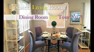 colors for living room and dining room updated glam living room and fall dining room tour 2017 fall