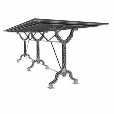 restoration hardware factory zinc cast iron dining tables 3d model
