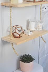 Hanging Bathroom Shelves Diy Hanging Shelves One Brass Fox
