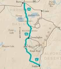 map of highway 395 oregon the high desert discovery scenic byway tripcheck oregon