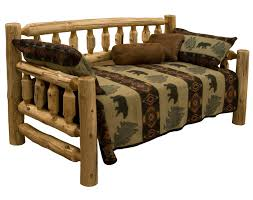 cedar log daybed rustic hand peeled logs the log furniture store
