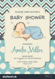 beautiful baby boy shower card little stock vector 480240331