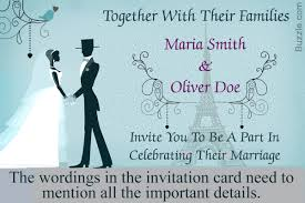 Invitation Wordings For Marriage Formal Wedding Invitation Wordings