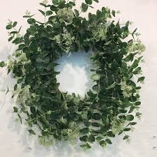 eucalyptus wreath gracie oaks artificial faux eucalyptus wreath reviews wayfair