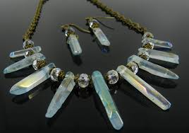 jewelry crystal necklace images Aura quartz crystal necklace and earrings mckenzie creek jewelry jpg