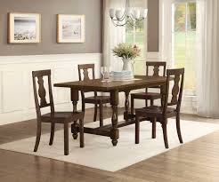 better homes and gardens providence wood dining chair brown set of 2