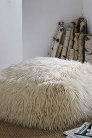 Faux Fur Ottoman Mg Decor Square Shaggy Faux Fur White Ottoman Nordstrom Rack