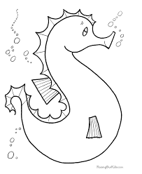 beach coloring pages preschool seahorse summer c under the sea pinterest seahorses eric