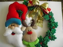 guirlanda natal em feltro encantos e inspirações de natal em