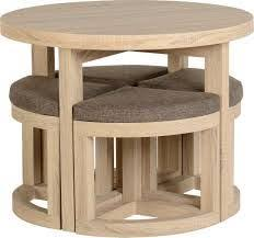 round table with chairs that fit underneath hygena boston spacesaver table and 4 chairs walnut from homebase