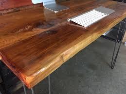 sale reclaimed wood desk modern mid century industrial