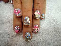 confetti hello kitty nails nail art gallery