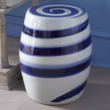 Ceramic Accent Table White And Blue Ceramic Accent Table Tedx Designs The Awesome