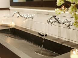 awesome trough sinks with two faucets gl kitchen design