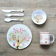 personalized baby plate baby bowl set personalised melamine kids dinner set bowl plate mug