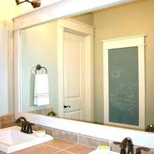 bathroom mirror trim ideas farmhouse bathroom mirror size of mirror decor farmhouse floor