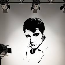 compare prices elvis wall art online shopping buy low price elvis presley wall decal sticker for kids rooms vinyl silhouette art mural free