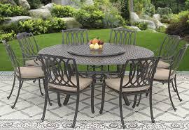 Patio Furniture Cast Aluminum San Marcos Cast Aluminum Outdoor Patio 9pc Set 8 Dining Chairs 71