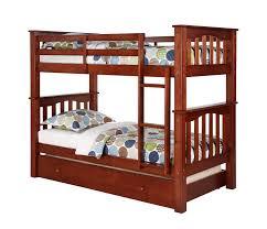 berkley jensen twin size bunk bed with trundle bj u0027s wholesale club