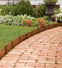 appealing landscape edging detail for garden concrete green bay