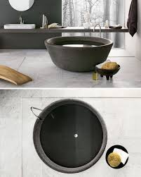 8 stunning examples of bathtubs made from solid stone contemporist the spa bathtub designed by nespoli e novara for neutra design is available in a wide range of stone types from moonstone to granite each one unique from