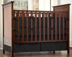Plain Crib Bedding Black Crib Bedding Etsy