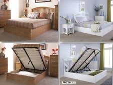 solid wood modern beds with memory foam mattresses ebay