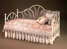 White Metal Daybed Bedroom Cool The Antique White Metal Peacock Daybed Has An