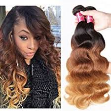wave sew in sew in weave with partially dyed wave hair