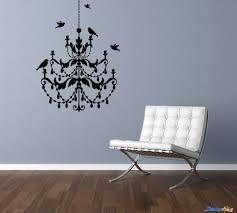 Vinyl Wall Decals For Bedroom Chandelier And Birds Room Vinyl Wall Decal Graphics