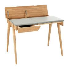 bureau petit beckett cadres muraux cuir bois habitat