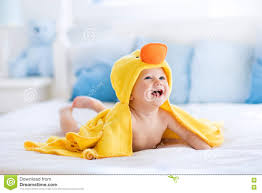 cute baby after bath in yellow duck towel stock photo image cute baby after bath in yellow duck towel stock photo