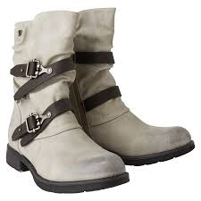 motorcycle style boots biker style boots buckle boot from tom tailor